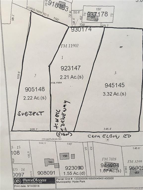 Crum Elbow Road, Poughkeepsie, NY 12601 (MLS #4843437) :: Mark Boyland Real Estate Team