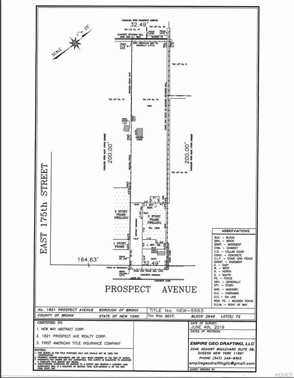 1821 Prospect Avenue, Bronx, NY 10457 (MLS #4960877) :: Shares of New York