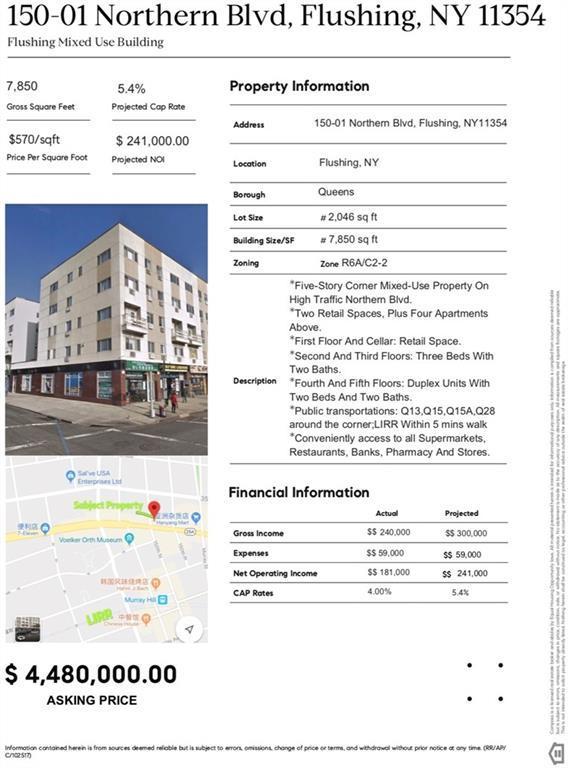 150-01 Northern Boulevard, New York, NY 11354 (MLS #4921736) :: Shares of New York